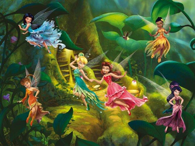 Fototapeta detská DISNEY Fairies 360 x 270 cm
