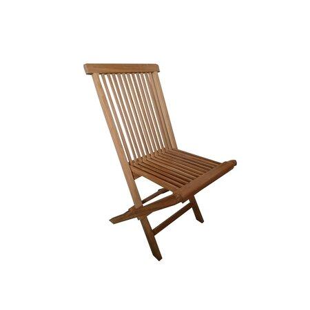 Sada skládacích zahradních židlí Clasic teak, 2 ks