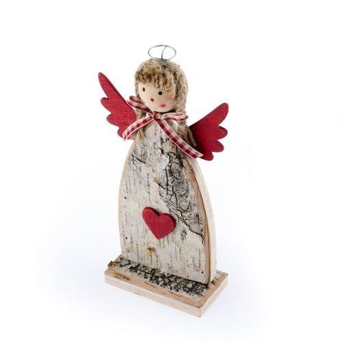 Decoraţiune de Crăciun, Înger cu fundă, roşu