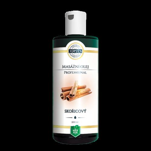 Topvet Masážní olej skořice 200 ml