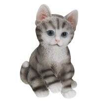 Koopman Dekoracja ogrodowa Kot, szara
