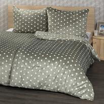 4Home Pościel mikroflanela Stars szary, 160 x 200 cm, 2x 70 x 80 cm