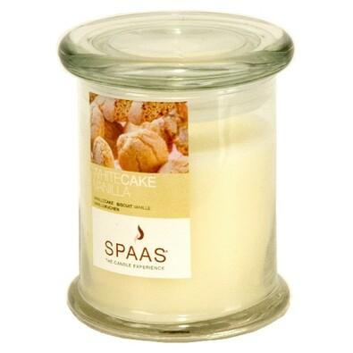Vonná svíčka Spaas ve skle, White cake vanilla, béžová