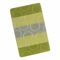 Kúpeľňová predložka Avangard Krúžky zelená, 60 x 100 cm