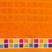 Osuška Mozaik oranžová, 70 x 130 cm