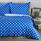4Home Bavlněné povlečení Modrý puntík, 220 x 200 cm, 2x 70 x 90 cm