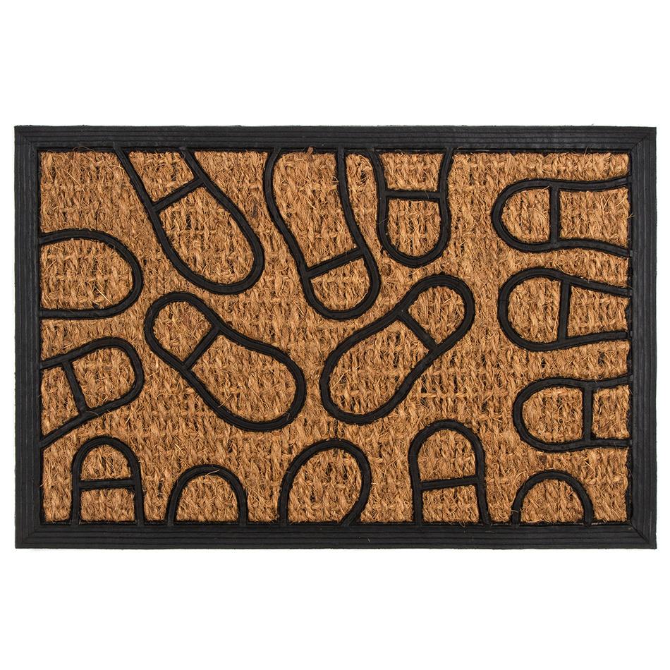 Trade Concept Kokosová rohožka Stopy, 40 x 60 cm