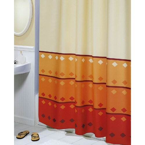 Sprchový záves Geometria oranžová, 180 x 200 cm
