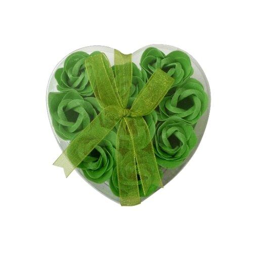 Mydlové kvety, 9 ks, zelená