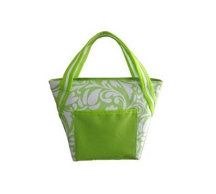 Chladící taška, zelená + bílá, 8 l, Vetro Plus, bílá + zelená
