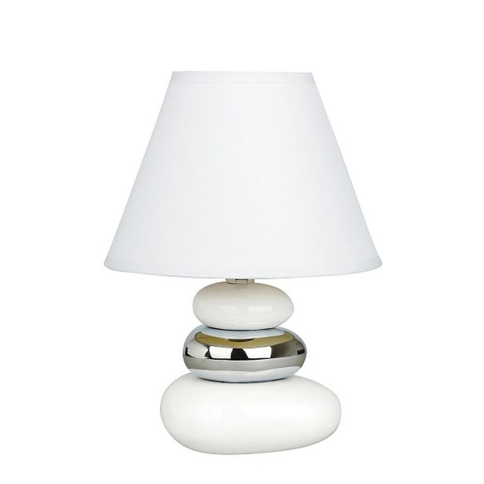 Produktové foto Stolní lampa Salem, bílo-stříbrná, Rabalux 4949