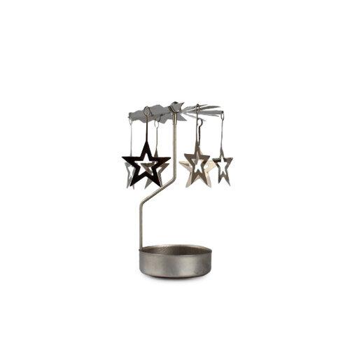 Kovové andělské zvonění s hvězdičkami, stříbrná