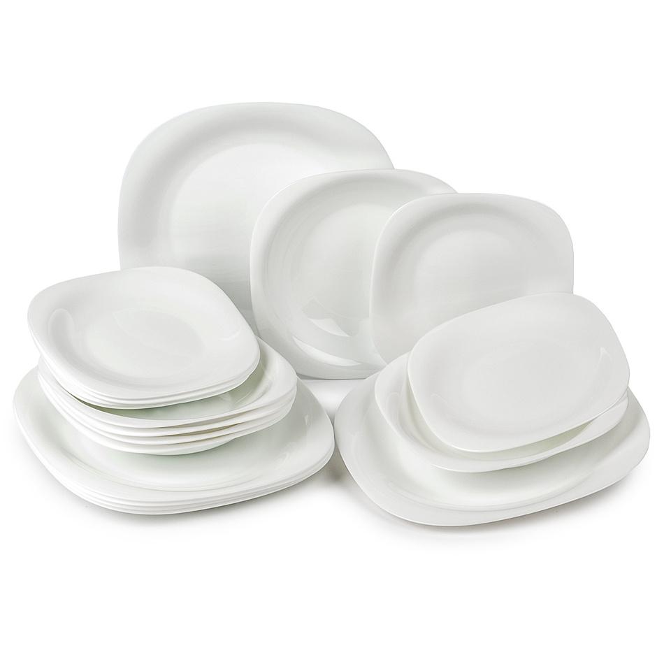 Luminarc Carine 18-dielna tanierová súprava biela,