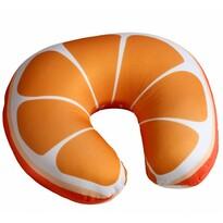 Poduszka podróżna rogal Pomarańcza, 30 x 30 cm