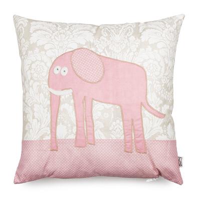 Polštářek Pink Elephant, 40 x 40 cm