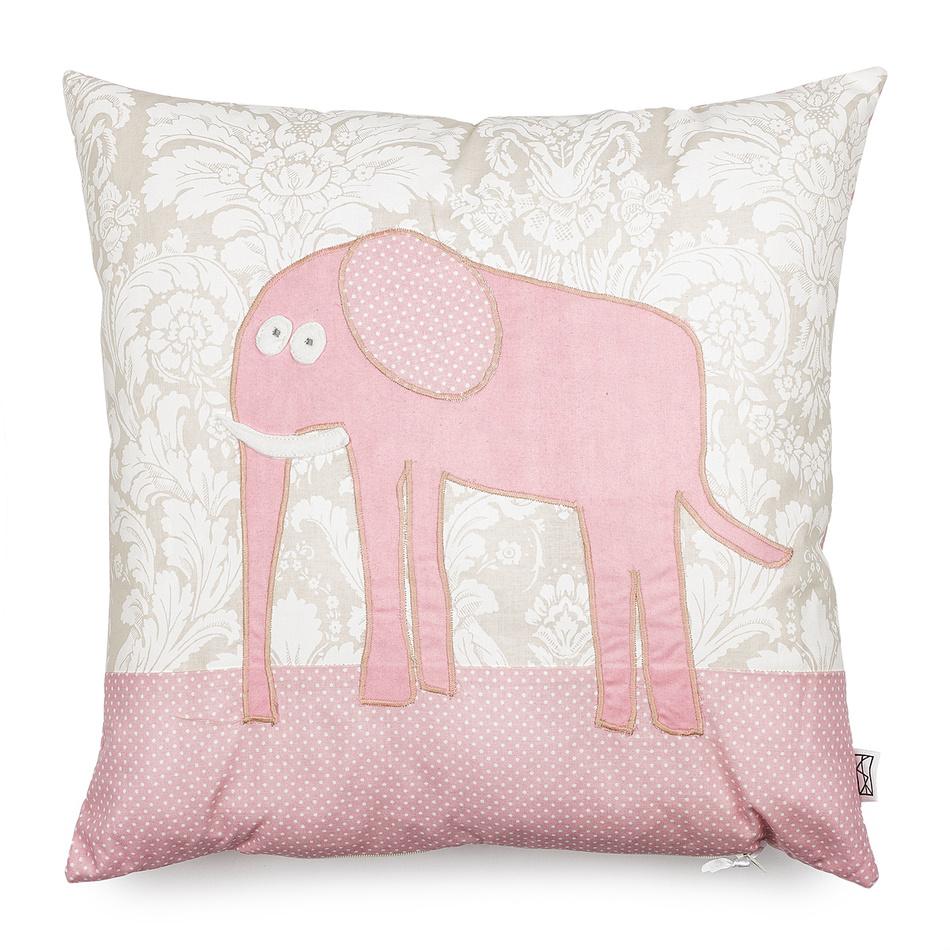Sara Home Vankúšik Pink Elephant, 40 x 40 cm,