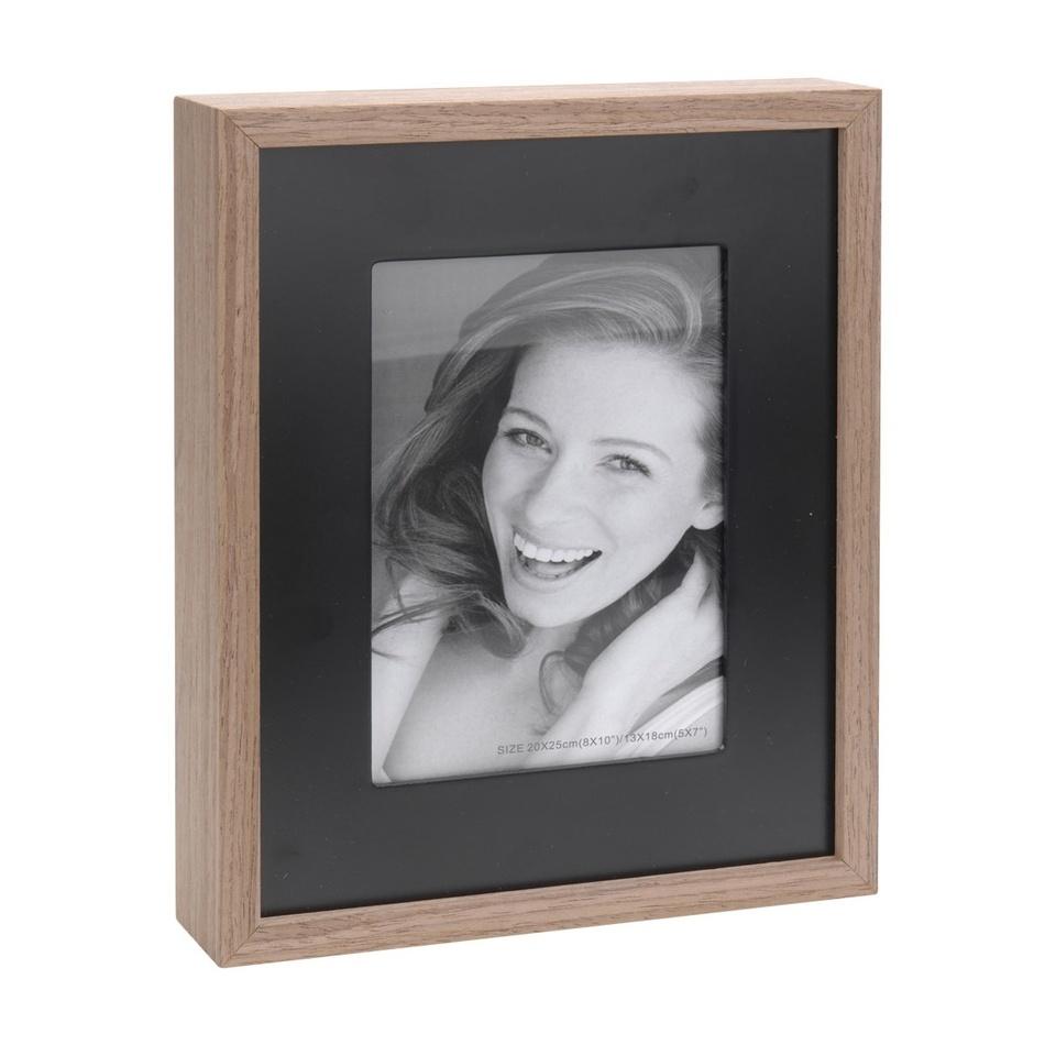 Fotorámeček Wood, černá + hnědá