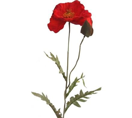 Umělá květina Vlčí mák, sada 3 kusů