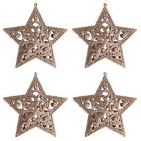 Sada závesných ozdôb Shiny Hviezda zlatá, 4 ks