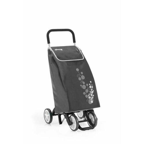 Gimi Nákupná taška na kolieskach Twin sivá, 56 l