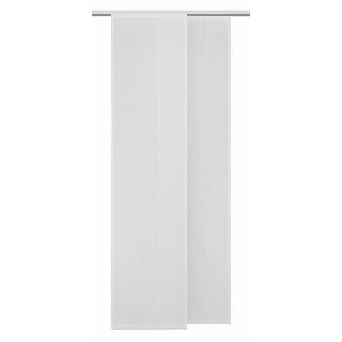 Draperie panou Albani voal Conny dungi albe, 245 x 60 cm