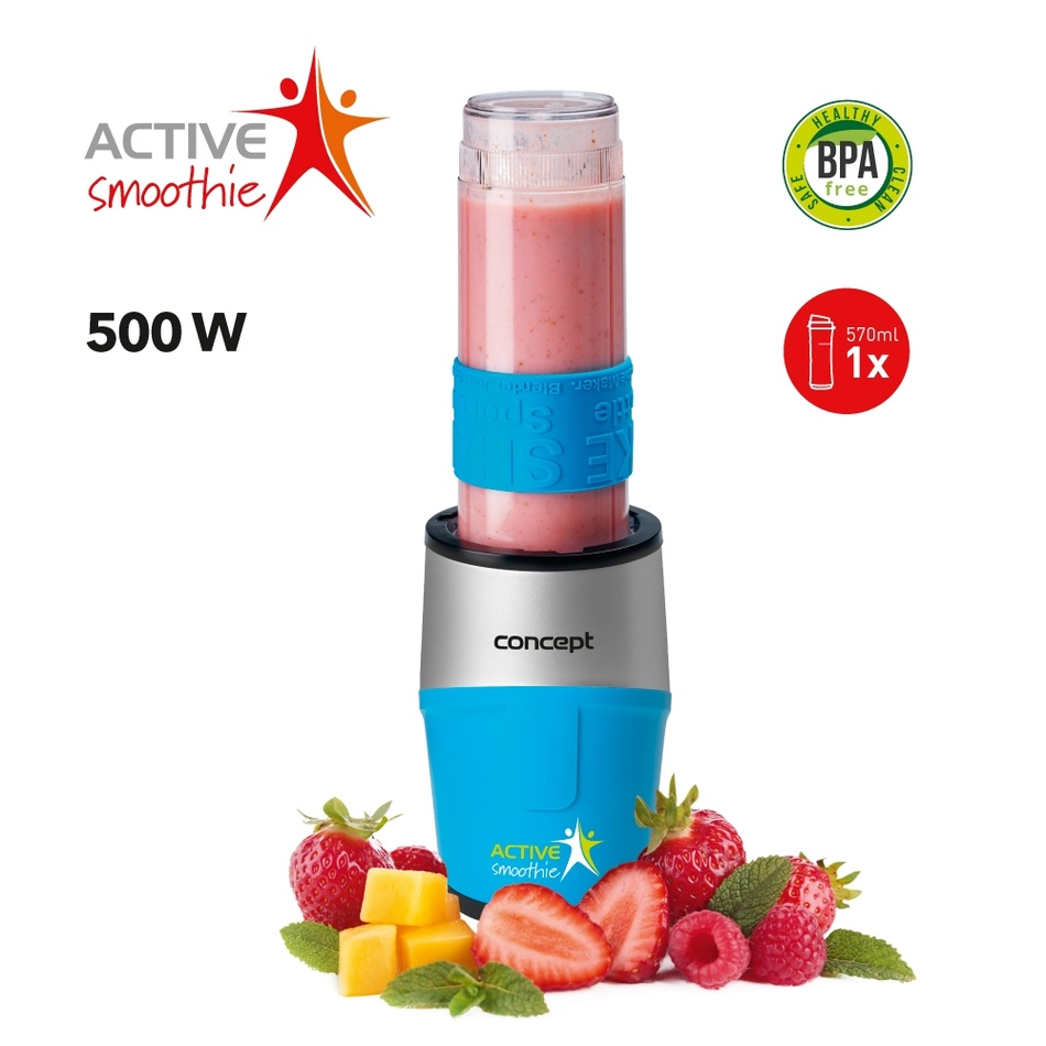 Concept SM3384 smoothie maker Active Smoothie500 W modrá 1 x 570 ml