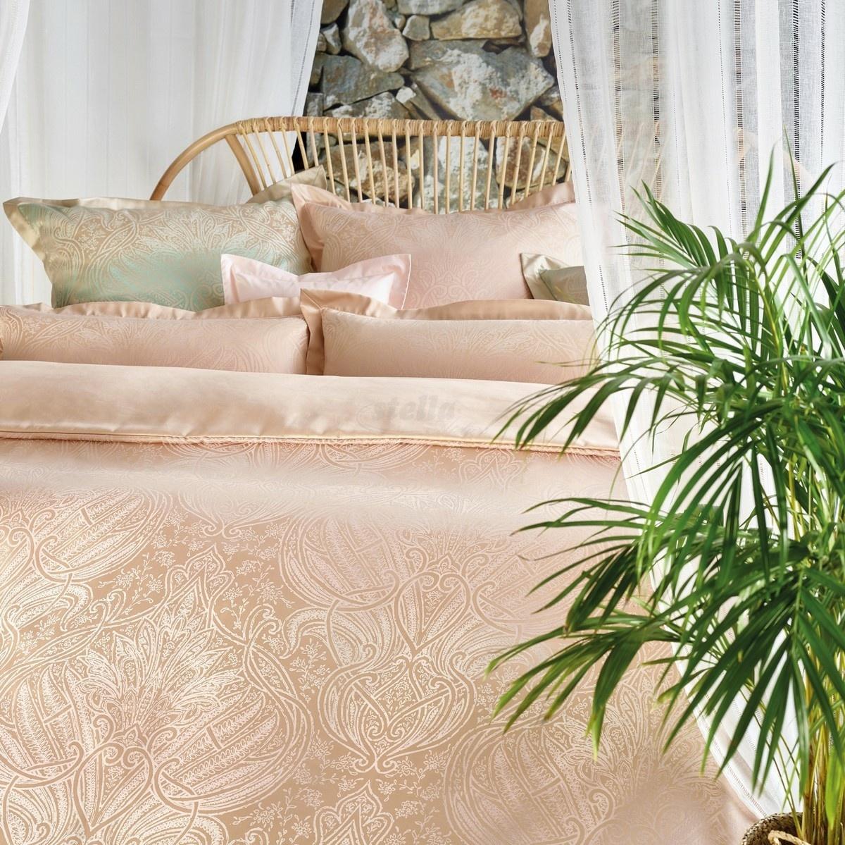 Stella Ateliers Damaškový povlak na polštářek Reena rose opál, 40 x 80 cm