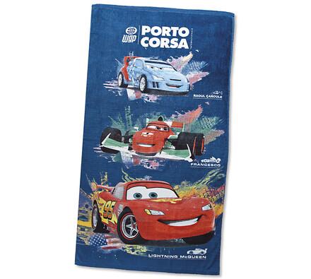 Dětská osuška Cars, modrá, 70 x 130 cm