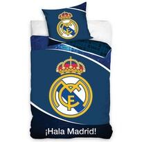 Lenjerie de pat Real Madrid Dark Blue, din bumbac, 140 x 200 cm, 70 x 90 cm