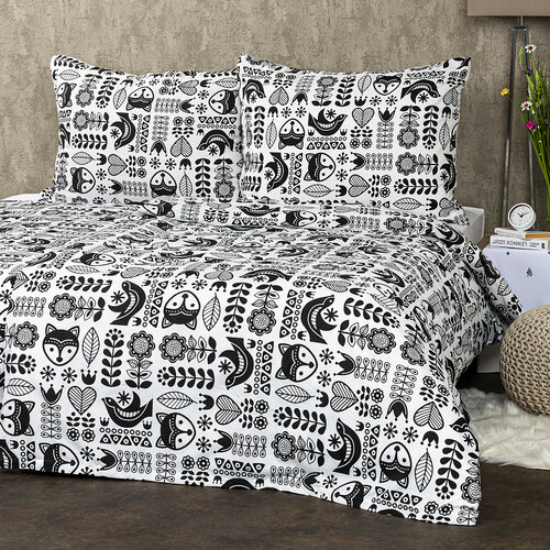4Home Obliečky Nordic Folklor micro, 160 x 200 cm, 70 x 80 cm