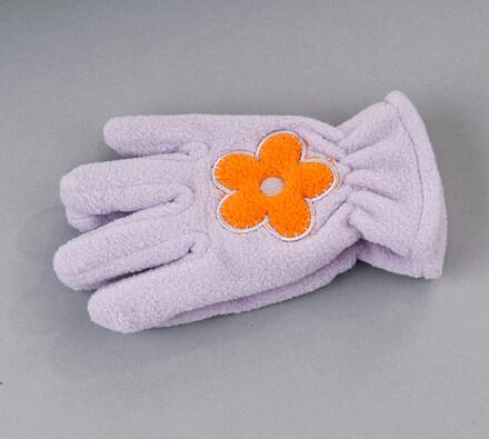 Dětské prstové rukavice fleece Karpet 5575, fialov