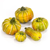 Sada jesenných dekorácií Tekvica 5 ks, žltá