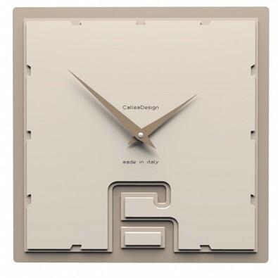 CalleaDesign 10-004 nástěnné hodiny béžová