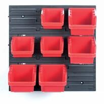 Függeszthető panel szerszámokhoz, 7 boxszal, Orderline, 40 x 16,5 x 40 cm