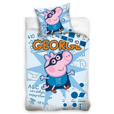 Dětské povlečení Peppa Pig – George, 140 x 200 cm, 70 x 80 cm
