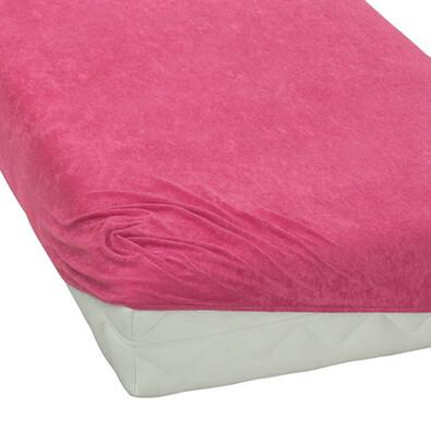 BedTex froté prostěradlo růžová, 90 x 200 cm