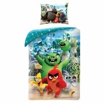 Dětské bavlněné povlečení Angry Birds Movie 2 modrá, 140 x 200 cm, 70 x 90 cm