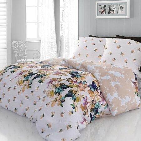 Lenjerie de pat Laura 2 persoane, din satin, 220 x 200 cm, 2 buc. 70 x 90 cm