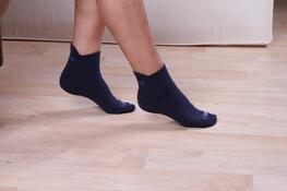 Cyklistické ponožky s patičkou, tmavě šedá, 26 - 28