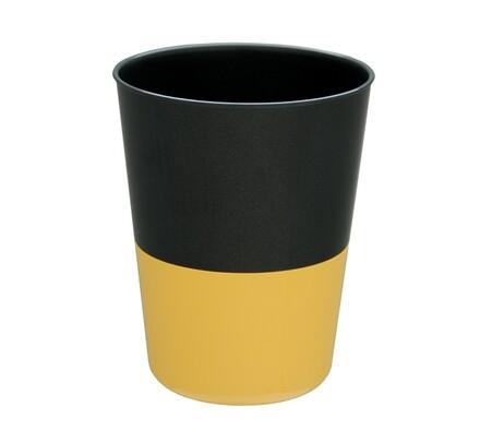 Samozavlažovací květináč na bylinky, černá + žlutá