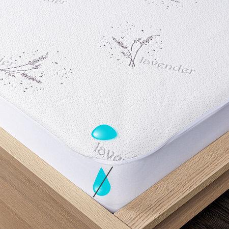 4Home Lavender Nepropustný chránič matrace s lemem, 160 x 200 cm + 30 cm