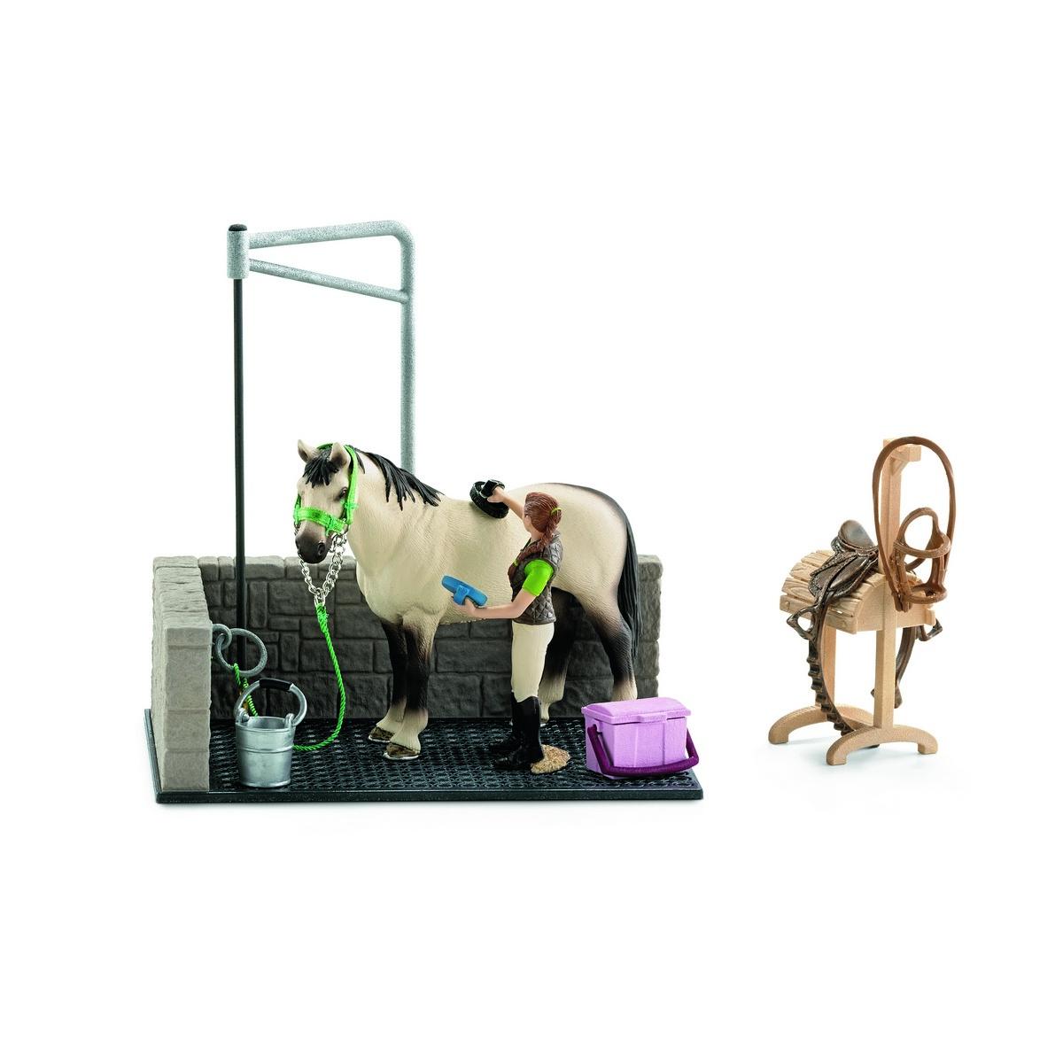 Schleich Mycí kout pro koně s příslušenstvím