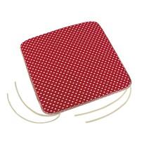 Pernă de scaun Adéla Inimioare, roșu, 40 x 40 cm