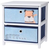 Comodă cu sertare Hatu, albastru, 41 x 33,5x 43 cm
