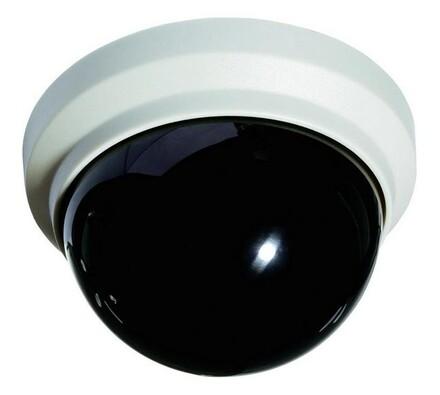 Atrapa kamery, Dome, Conrad, bílá + černá