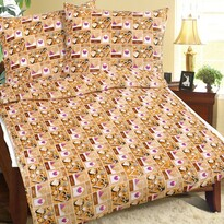Obliečky mikroflanel Srdce, 140 x 200, 70 x 90 cm