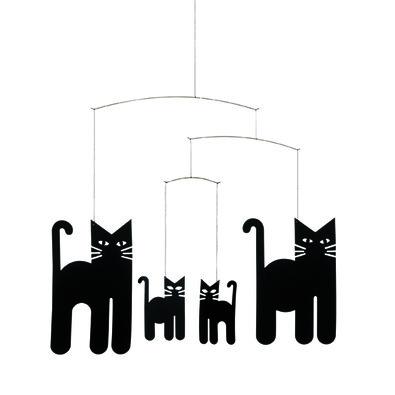 Kinet Cats Mobile 30 cm, černý