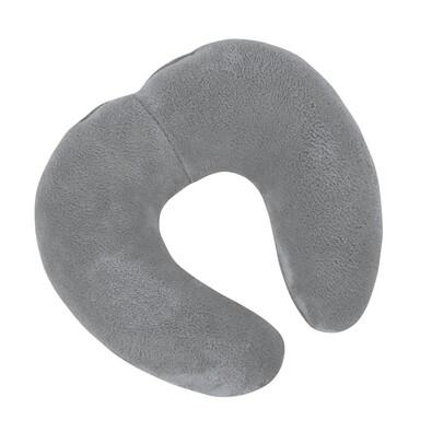 Cestovní polštářek Korall micro šedá, 30 x 35 cm