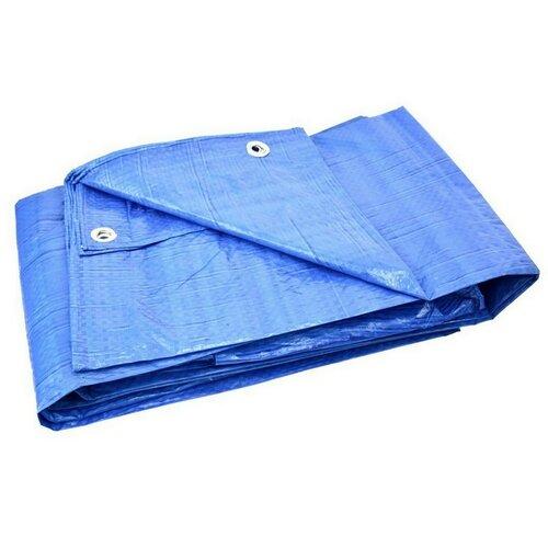 GEKO Nepremokavá krycia plachta s okami Standard modrá, 4 x 6 m