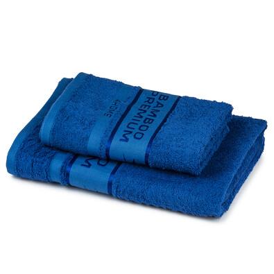 4Home Bamboo Premium törölköző és fürdőlepedő szett kék, 70 x 140 cm, 50 x 100 cm